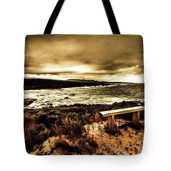 Atmospheric Beach Artwork Tote Bag