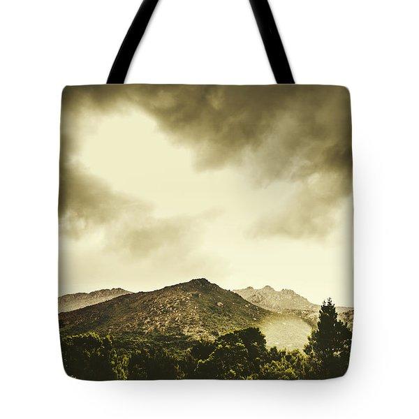 Atmospheric Hills And Valleys Tote Bag