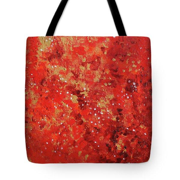 Atmospheric Red 201749 Tote Bag by Alyse Radenovic