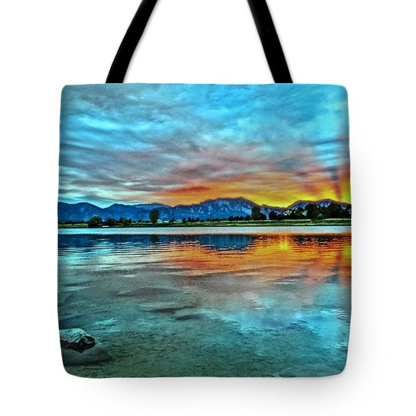 Tote Bag featuring the photograph Atom  by Eric Dee