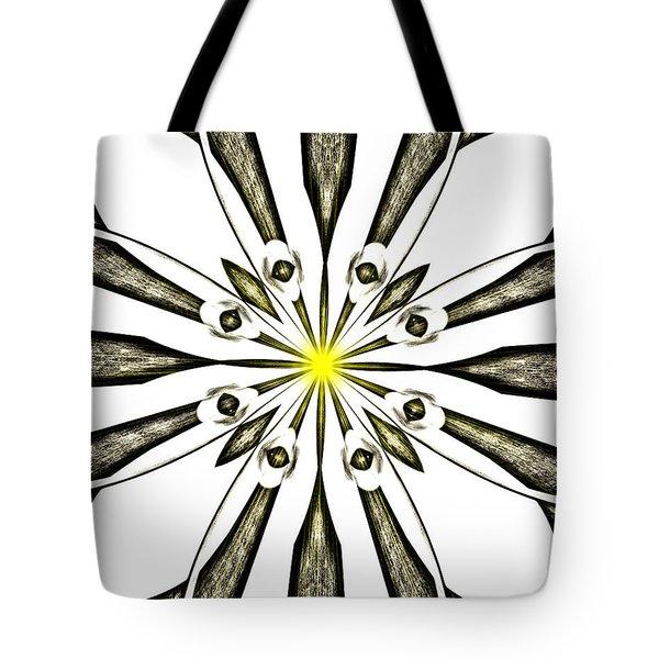 Atomic Lotus No. 3 Tote Bag by Bob Wall