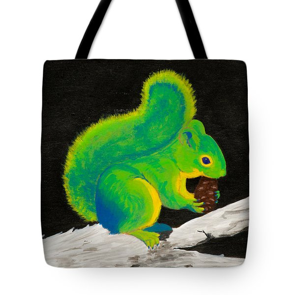 Atomic Squirrel Tote Bag