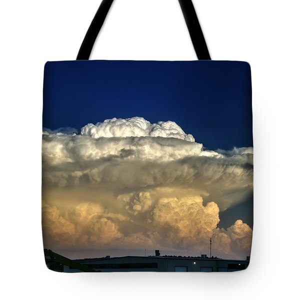 Atomic Supercell Tote Bag by James Menzies