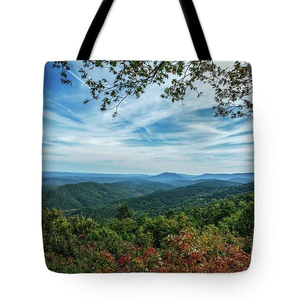 Atop The Mountain Tote Bag