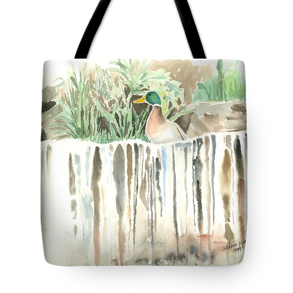 Atop The Waterfall Tote Bag by Arline Wagner