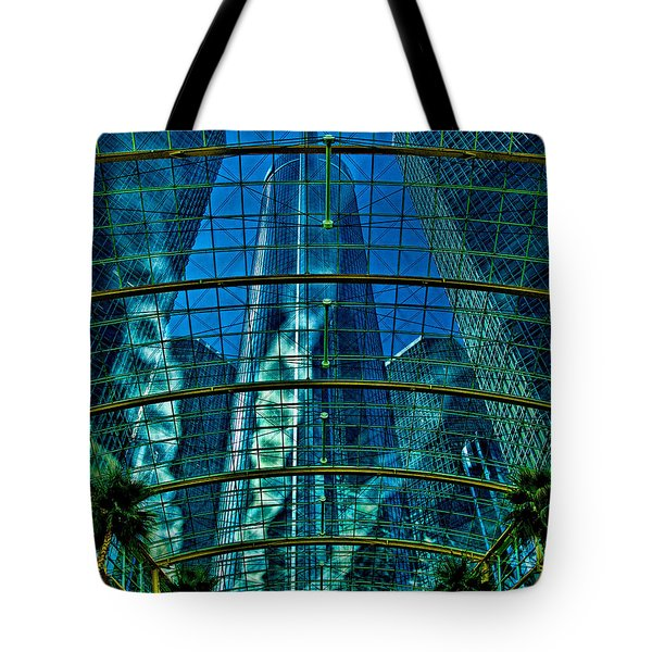 Atrium Gm Building Detroit Tote Bag