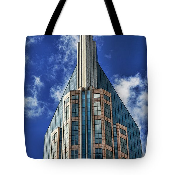 Tote Bag featuring the photograph Att Nashville by Stephen Stookey