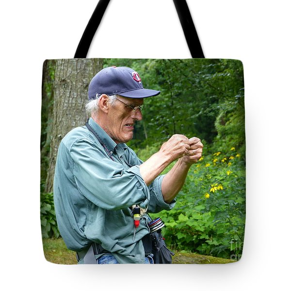Attaching The Lure Up Close Tote Bag