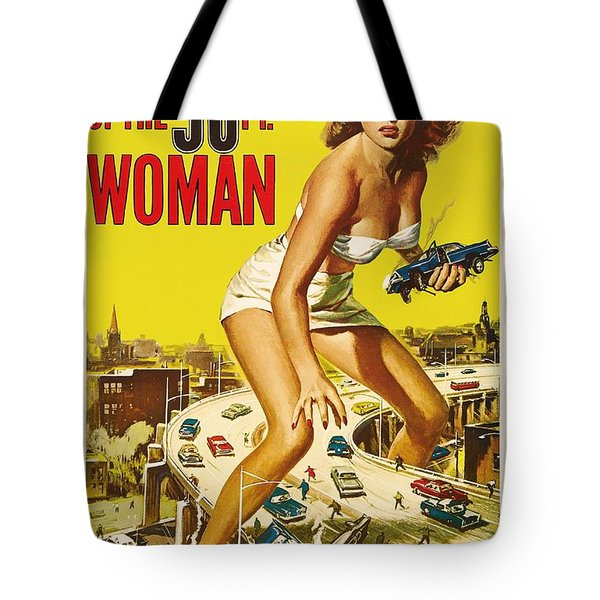 Attack Of The 50 Ft Woman 1958 Tote Bag