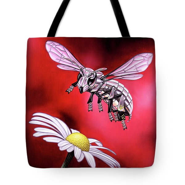 Attack Of The Silver Bee Tote Bag