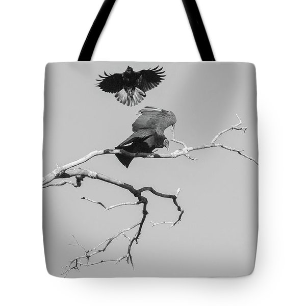 Attack On A Buzzard Tote Bag by Carolyn Dalessandro