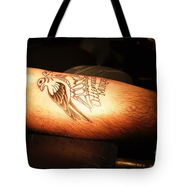 Attempted Murder Tote Bag by Vinnie Oakes