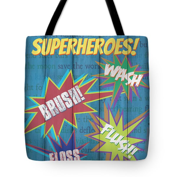 Attention Superheroes Tote Bag