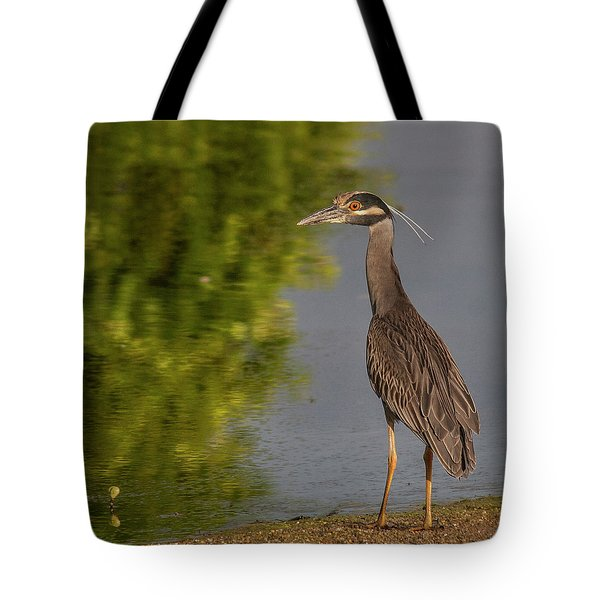 Tote Bag featuring the photograph Attentive Heron by Jean Noren