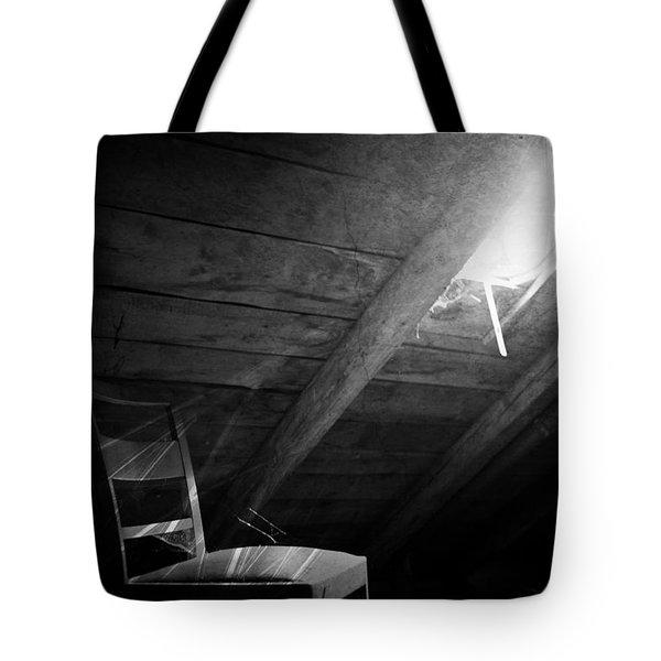 Attic Window Black And White Tote Bag