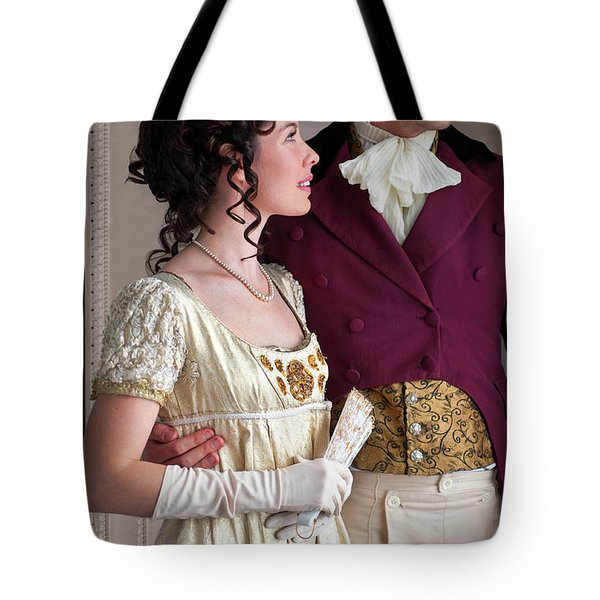 Attractive Regency Couple Tote Bag by Lee Avison