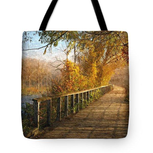 Atumn Emerging - Oil Paint Effect Tote Bag