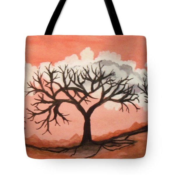 Tote Bag featuring the painting Atumn Trees by Connie Valasco