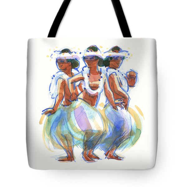 Ature Drum Dancers Tote Bag