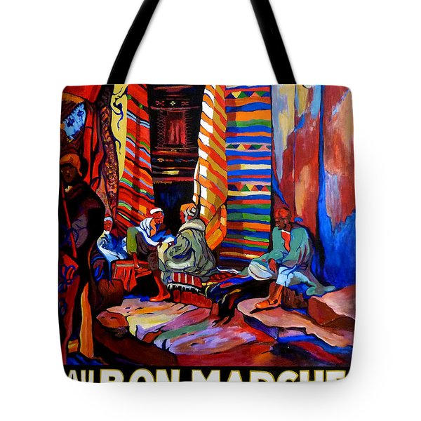 Tote Bag featuring the painting Au Bon Marche by Tom Roderick