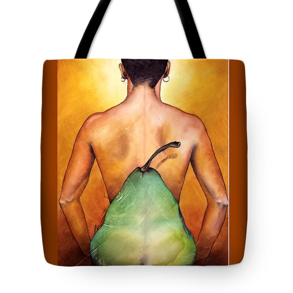 Tote Bag featuring the painting Au Naturel by Christopher Marion Thomas