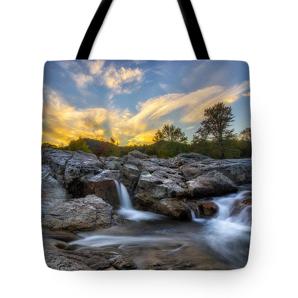 Tote Bag featuring the photograph Auasble River Sunset 2 by Mark Papke