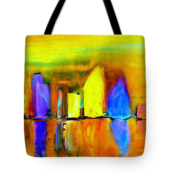 Tote Bag featuring the painting Aubade - To Love-dedicated by VIVA Anderson