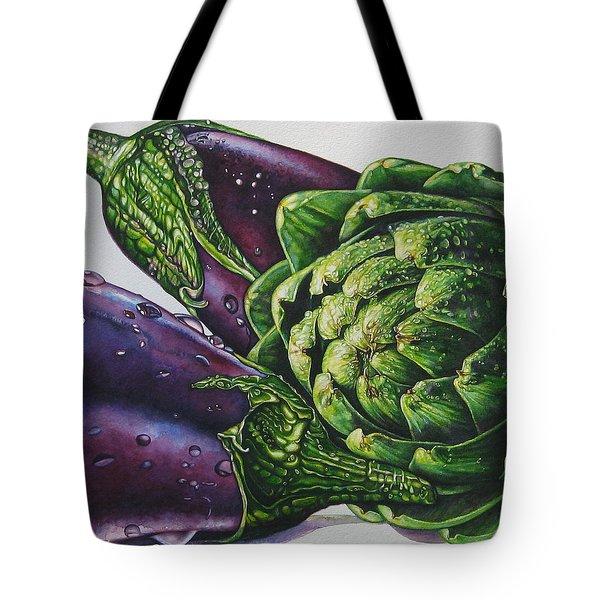 Aubergines And An Artichoke Tote Bag