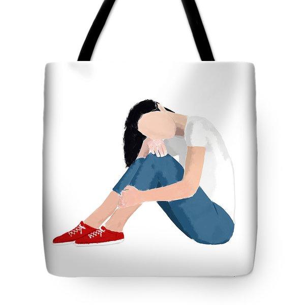 Tote Bag featuring the digital art Aubrey by Nancy Levan