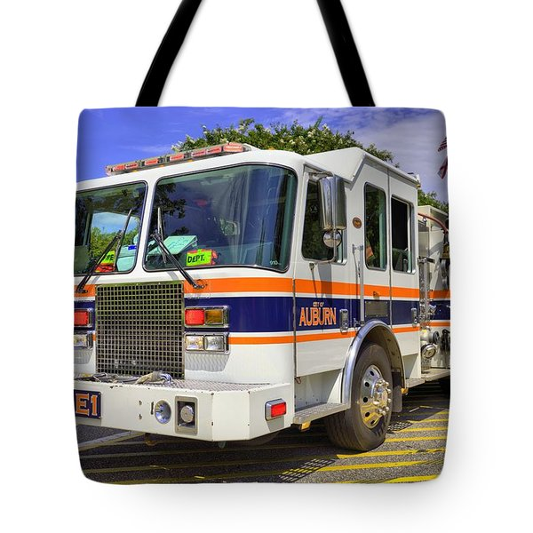 Tote Bag featuring the photograph Auburn Fire Department  by JC Findley