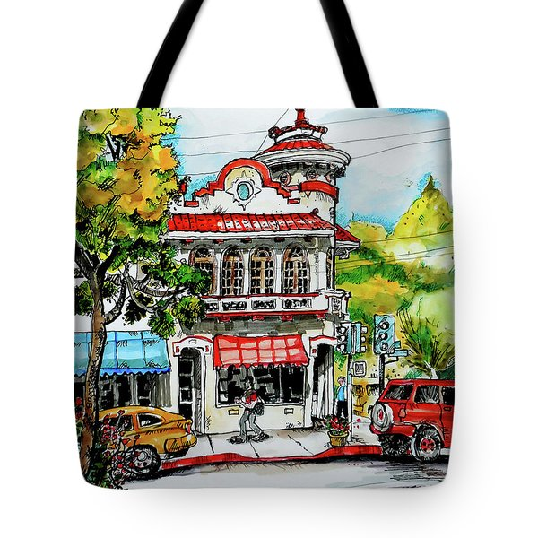 Tote Bag featuring the painting Auburn Historical by Terry Banderas