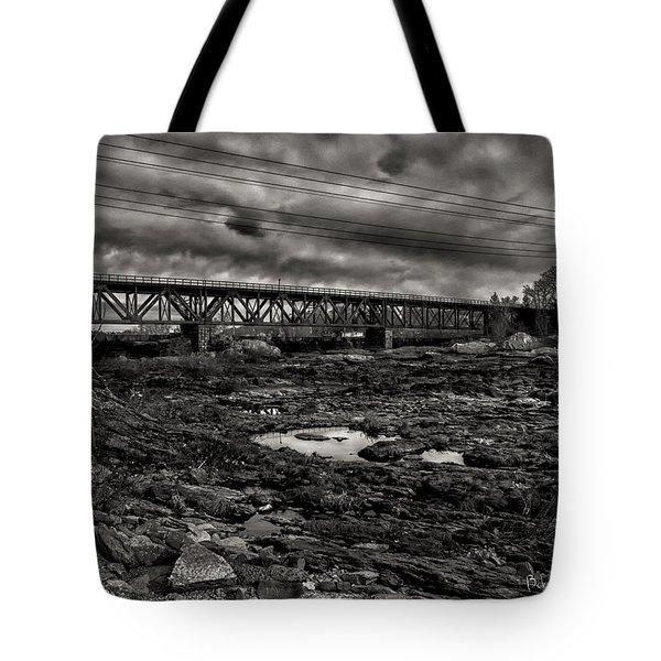 Auburn Lewiston Railway Bridge Tote Bag by Bob Orsillo