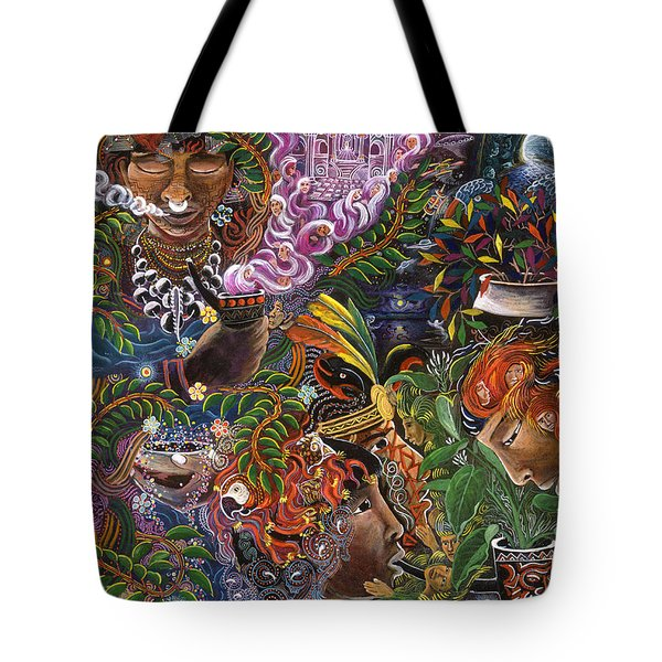 Auca Yachai Tote Bag by Pablo Amaringo