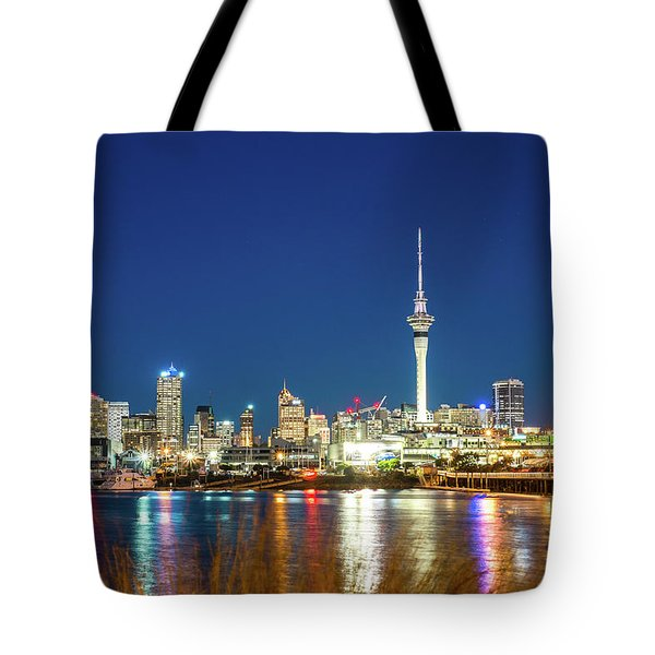 Auckland At Dusk Tote Bag