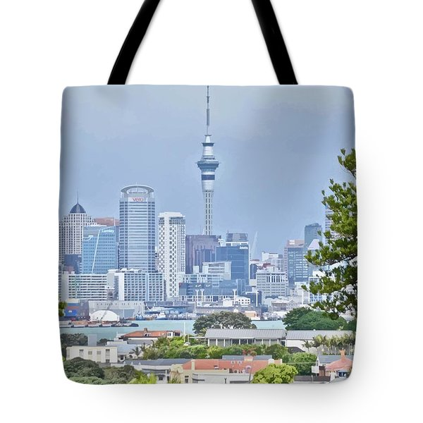 Auckland City C B D Tote Bag