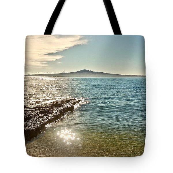 Auckland Harbour On A Winter's Afternoon Tote Bag