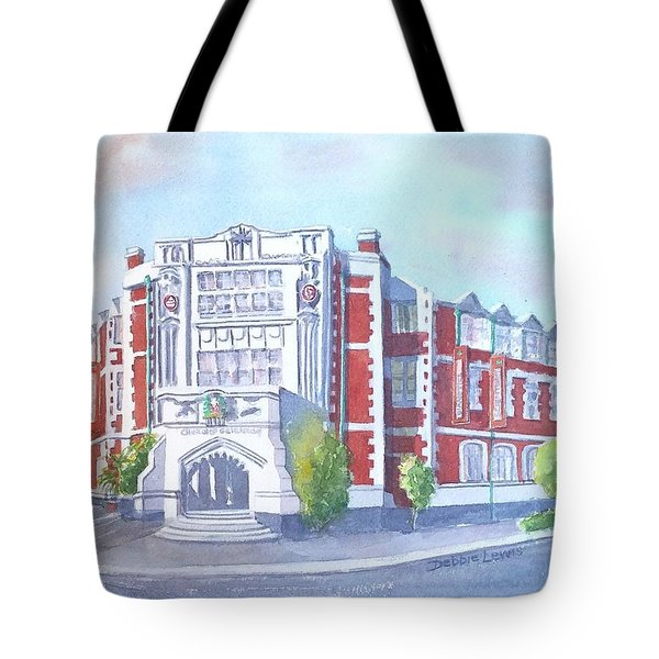 Tote Bag featuring the painting Auckland Ideal Org #2 by Debbie Lewis