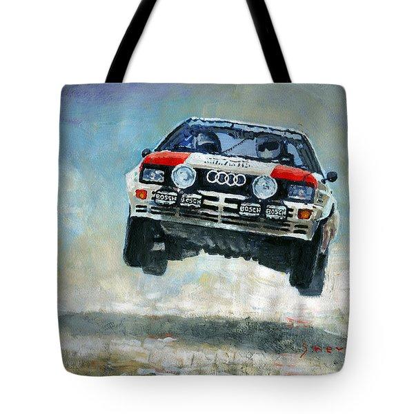 Audi Quattro Gr.4 1982 Tote Bag by Yuriy Shevchuk