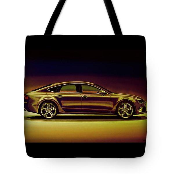 Audi Rs7 2013 Mixed Media Tote Bag