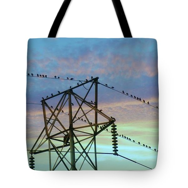 Tote Bag featuring the photograph Auditioning For A Hitchcock Movie by Benanne Stiens