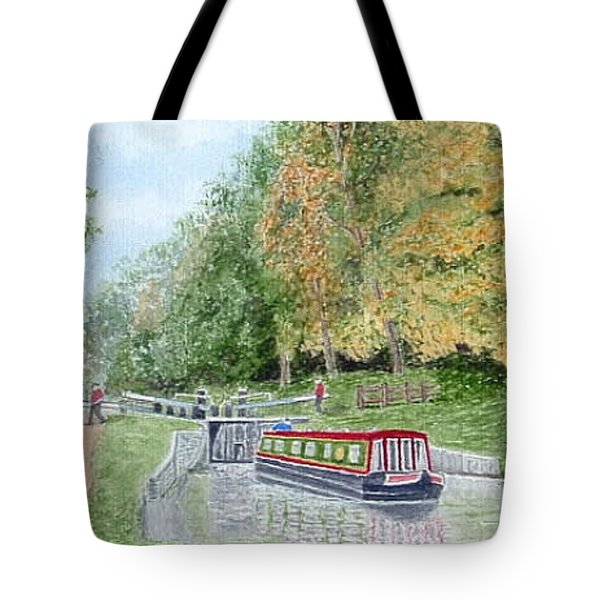 Audlem Lock, Shropshire Union Canal Tote Bag by Peter Farrow