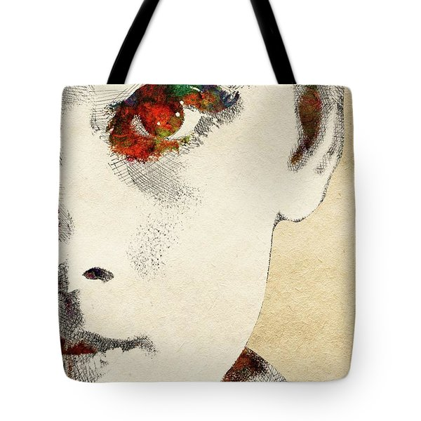 Audrey Half Face Portrait Tote Bag