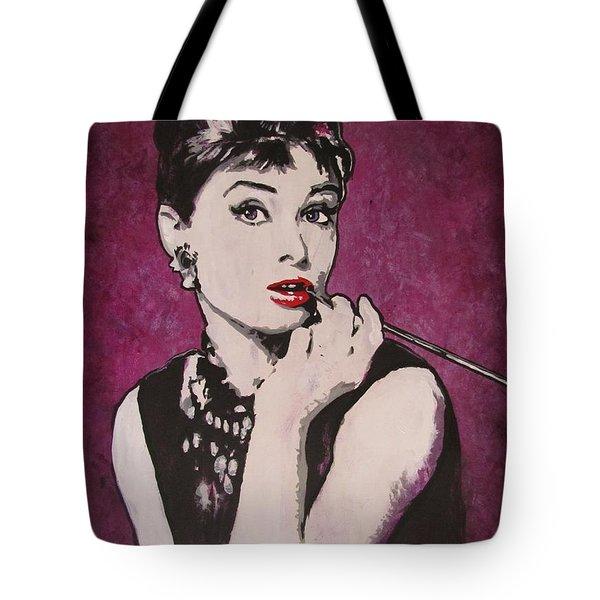 Audrey Hepburn - Breakfast Tote Bag