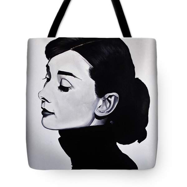 Audrey Hepburn 1 Tote Bag by Brian Broadway