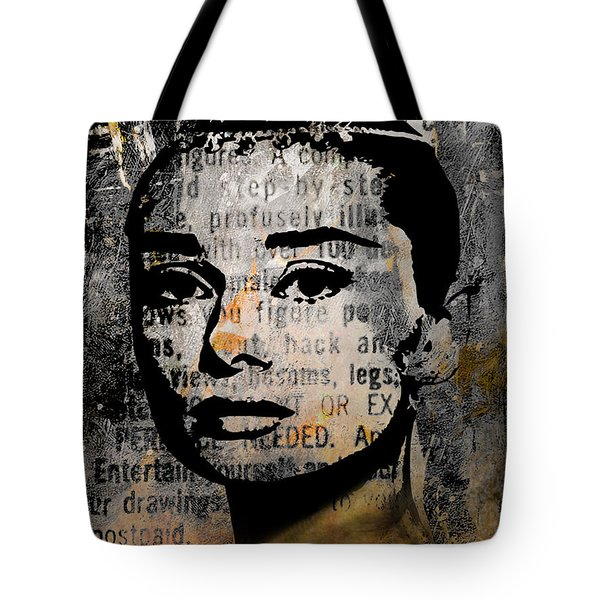 Audrey Hepburn #2 Tote Bag by Kim Gauge