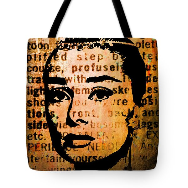 Audrey Hepburn #4 Tote Bag by Kim Gauge
