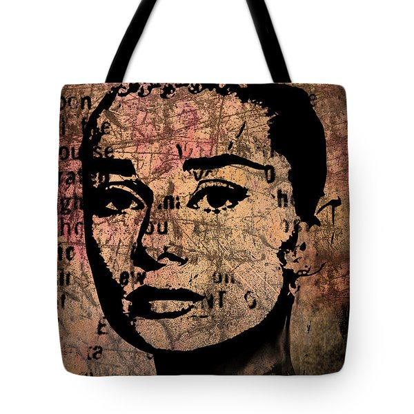 Audrey Hepburn #7 Tote Bag by Kim Gauge