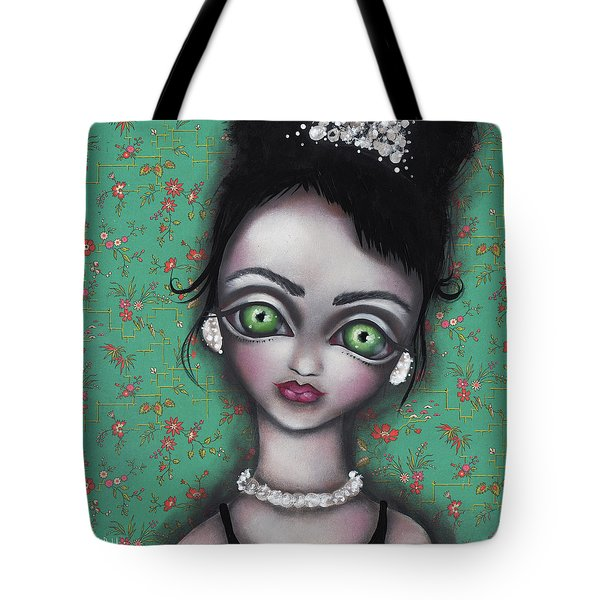 Audrey Hepburn Tote Bag by Abril Andrade Griffith