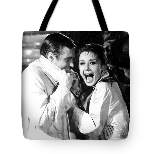 Tote Bag featuring the photograph Audrey Hepburn As Holly Golightly by R Muirhead Art