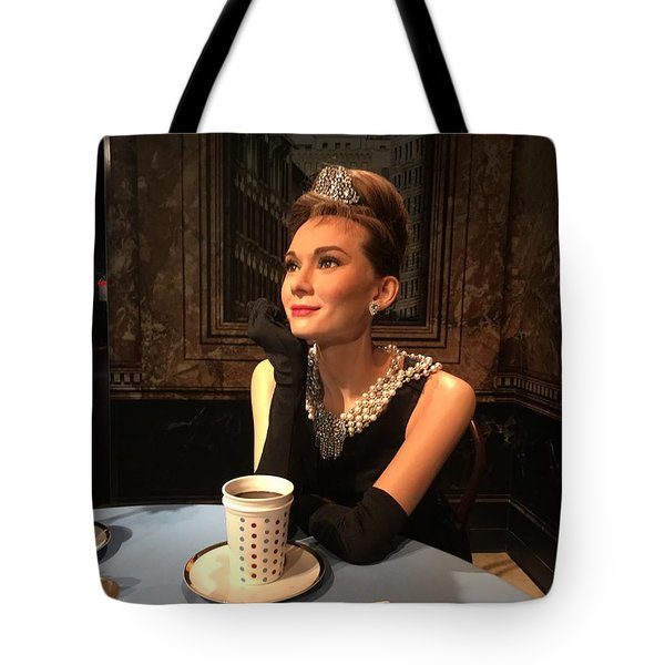 Audrey Hepburn Tote Bag by Kay Gilley